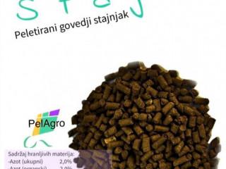 """Organsko čvrsto NPK đubrivo """"Stajko"""" - pelet goveđeg stajnjaka"""